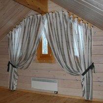 Карнизы на косые окна в деревянном доме фото