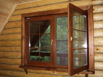окна в деревянных домах картинки