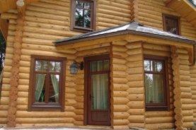 Отделка пластиковых окон снаружи в деревянном доме   Строитель 73