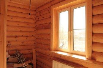 Отделка пластиковых окон в деревянном доме внутри фото