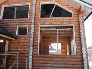 Пластиковые окна. Установка окон в деревянном доме. Санкт