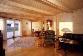 Покрасить дом из клееного бруса. Красивые дома и коттеджи 2015
