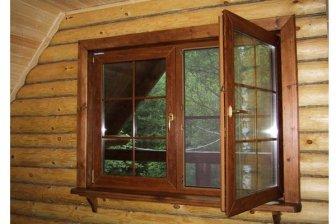 Установка окон в деревянном доме, окна пластиковые в деревянном доме